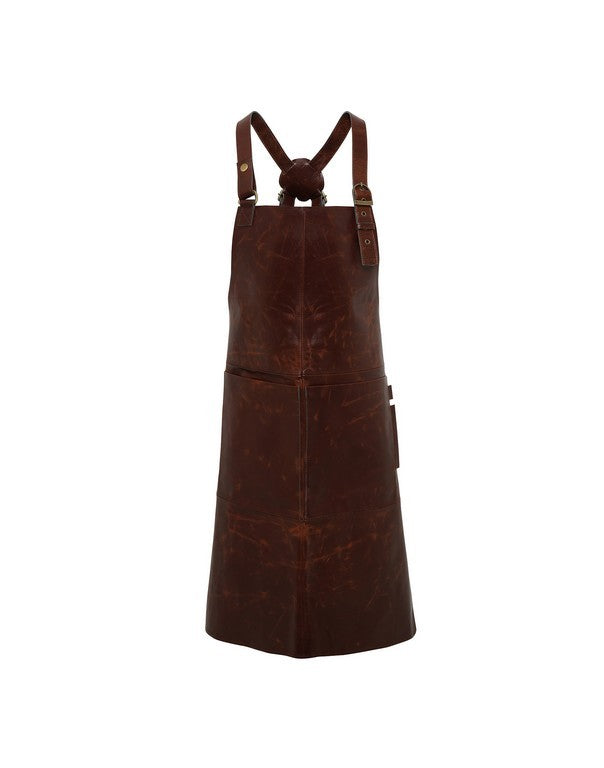 Real Leather Bib Apron (A140)