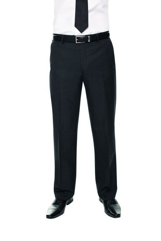 Stanford Flat Front Trouser (TM169) - Charcoal