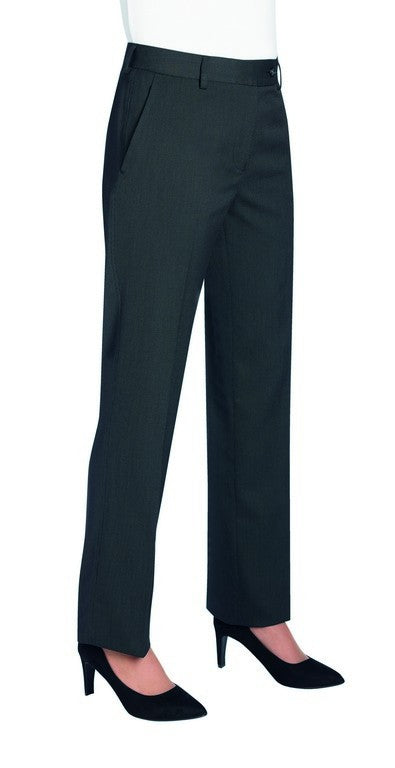 Ladies Tailored Fit Trouser (TF803) - Charcoal Pin Dot