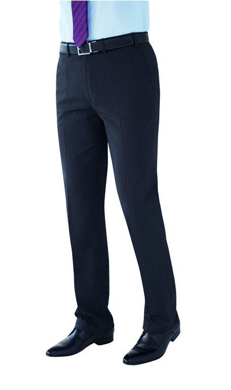 Men's Tailored Fit Trouser (TM808) - Navy Pin Dot