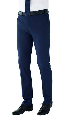 Men's Slim Fit Trouser (TM810) - Navy Pin Dot