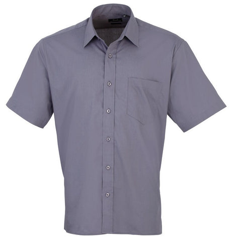 S32 Men's Easycare  Short Sleeve Shirt (PR202) - Steel Grey