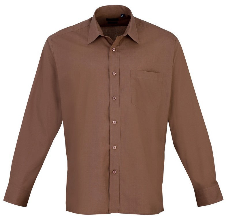 Men's Easycare  Long Sleeve Shirt (S33 (PR200)) - Mocha