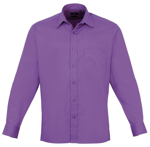 Men's Easycare  Long Sleeve Shirt (S33 (PR200)) - Rich Violet