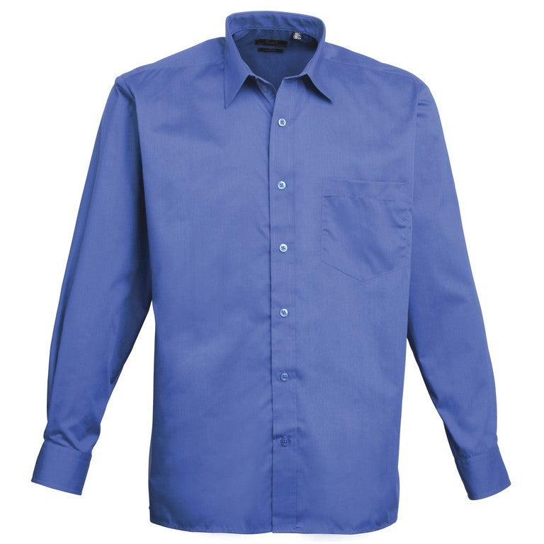 Men's Easycare  Long Sleeve Shirt (S33 (PR200)) - Royal