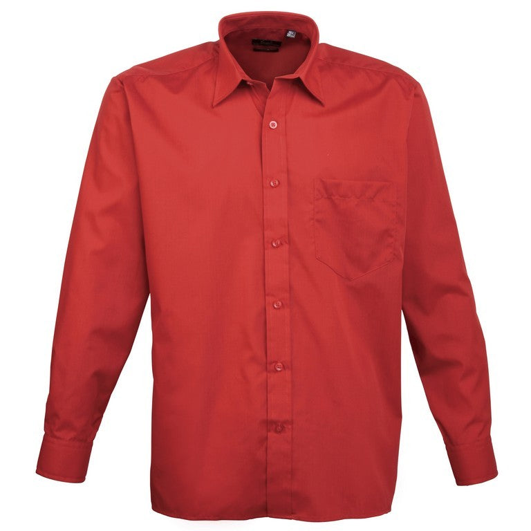 Men's Easycare  Long Sleeve Shirt (S33 (PR200)) - Red