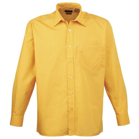 Men's Easycare  Long Sleeve Shirt (S33 (PR200)) - Sunflower