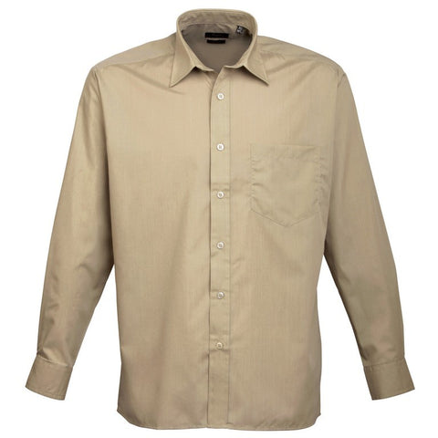 Men's Easycare  Long Sleeve Shirt (S33 (PR200)) - Khaki