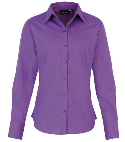 Ladies Easycare  Long Sleeve Blouse (B31 (PR300)) - Rich Violet