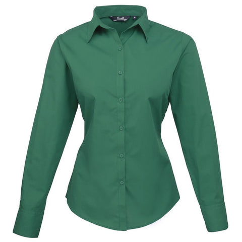 Ladies Easycare  Long Sleeve Blouse (B31 (PR300)) - Emerald