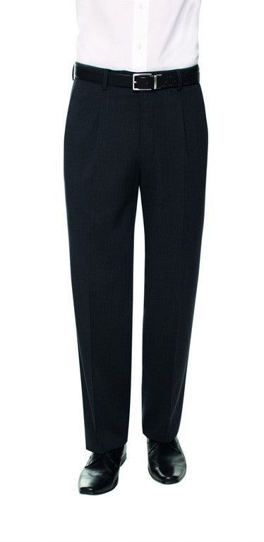 Westminster Single Pleat Trouser (TM117) - Charcoal