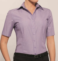 Ladies Short Sleeve Blouse (B183)
