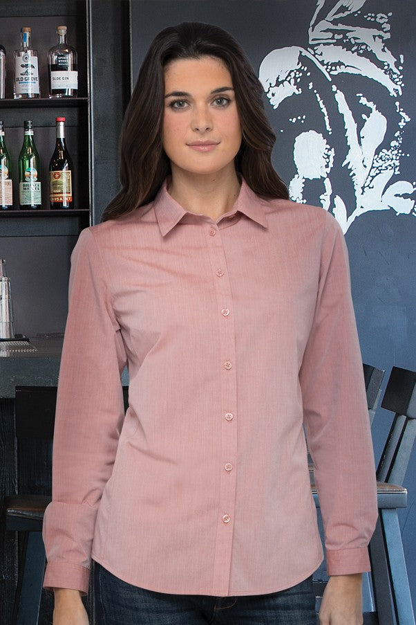 Modern Chambray Ladies Long Sleeve Dress Shirt (SHC06W)