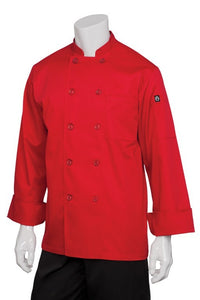 Nantes Red Long Sleeve Chef Jacket (REPC)
