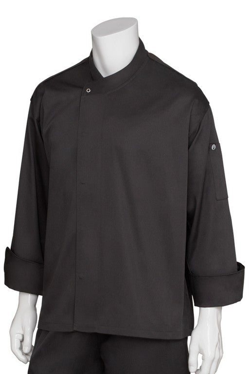 New Yorker Cool Vent Long Sleeve Chef Jacket (BLDF)