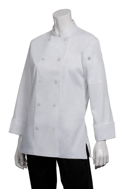 Sofia Ladies Long Sleeve Chef Jacket (LWLJ)