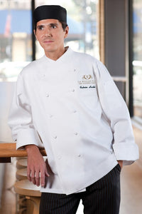 Milan Premium Cotton Long Sleeve Chef Jacket (ECCW)