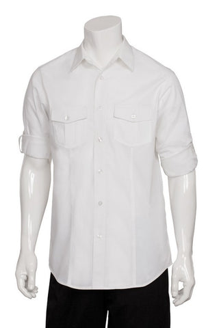 Mens Two-pocket Long Sleeve Slim Fit Shirt (DPDS)