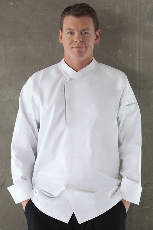 Trieste Premium Cotton Long Sleeve Chef Jacket (ECRO)
