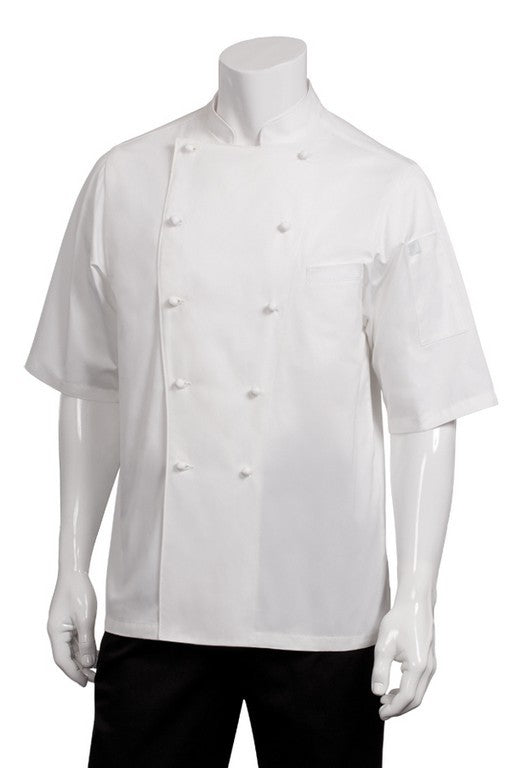 Capri Premium Cotton Short Sleeve Chef Jacket (ECSS)