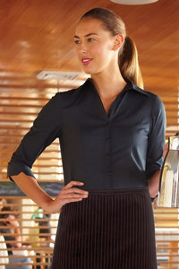 Finesse Ladies 3/4-Sleeve Fitted Blouse (WA34)