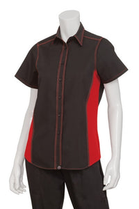 Ladies Universal Contrast Short Sleeve Blouse (CSWC)