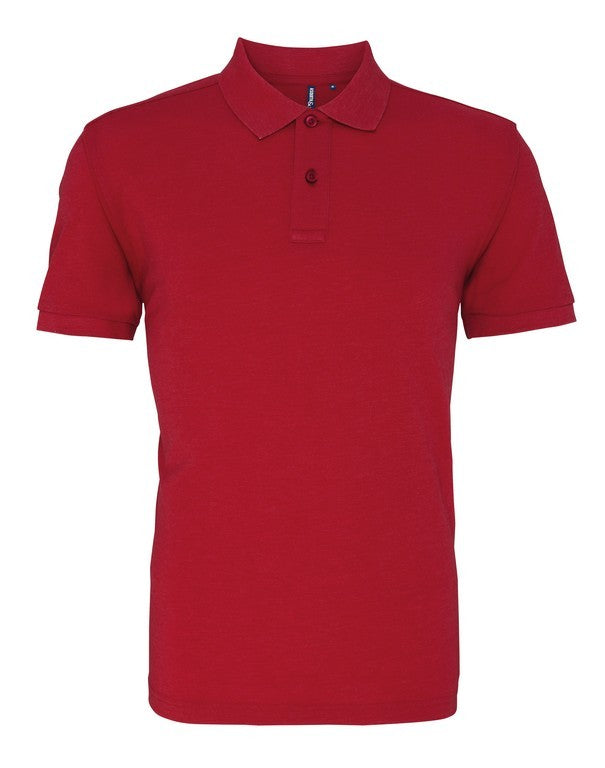 Unisex Cotton Polo Shirt (P010 (AQ010)) - Red Heather