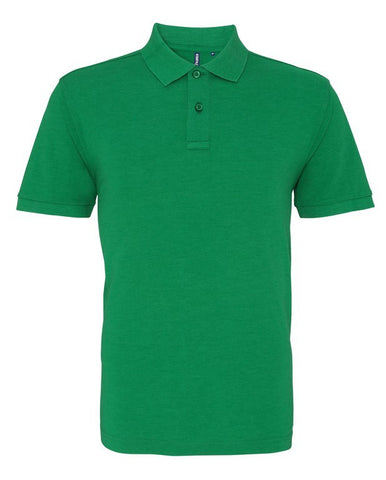 Unisex Cotton Polo Shirt (P010 (AQ010)) - kelly Heather