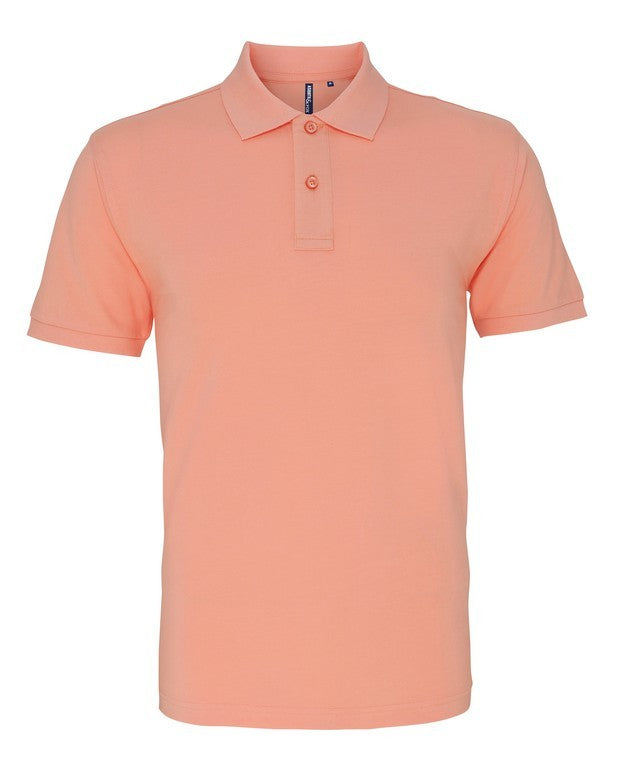Unisex Cotton Polo Shirt (P010 (AQ010)) - Peach
