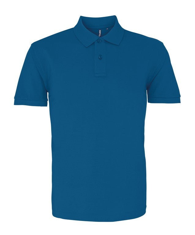 Unisex Cotton Polo Shirt (P010 (AQ010)) - Teal Heather