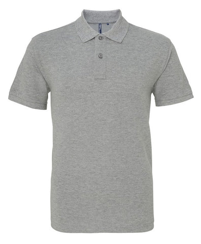 Unisex Cotton Polo Shirt (P010 (AQ010)) - Heather Grey