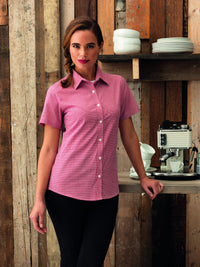 Ladies Gingham Check Blouse (B320 (PR320))
