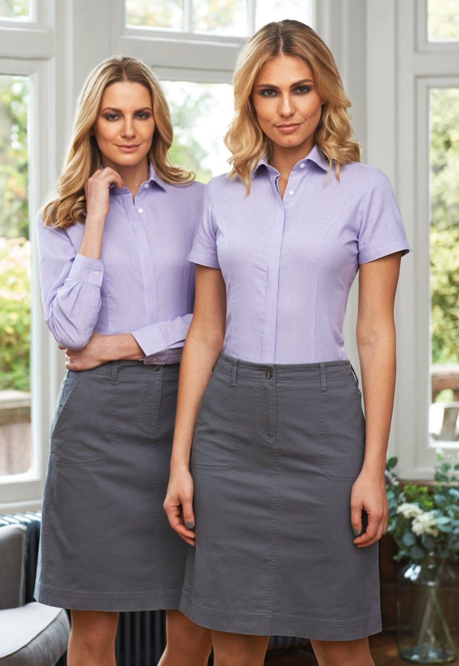 Lugano Ladies Semi Fitted Blouse (B117)