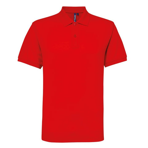 Men's Poly/Cotton Polo Shirt (P015) - Red