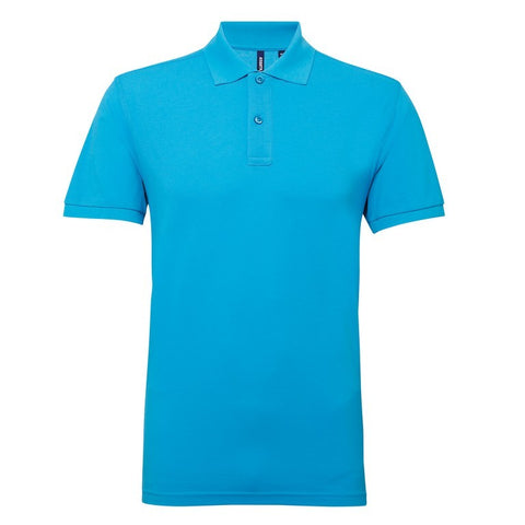 Men's Poly/Cotton Polo Shirt (P015) - Turquoise