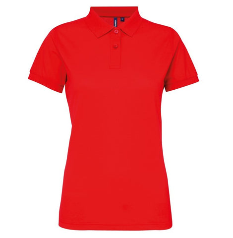 Ladies Poly/Cotton Polo Shirt (PF025) - Cherry Red