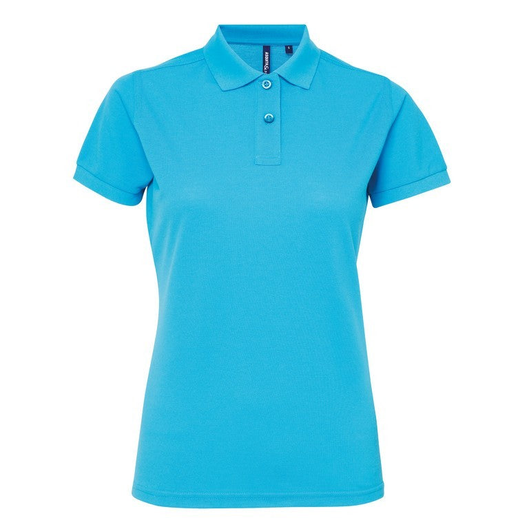 Ladies Poly/Cotton Polo Shirt (PF025) - Turquoise
