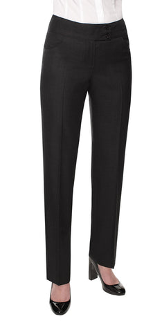 Ladies Narrow Leg Trouser (TF166) - Black