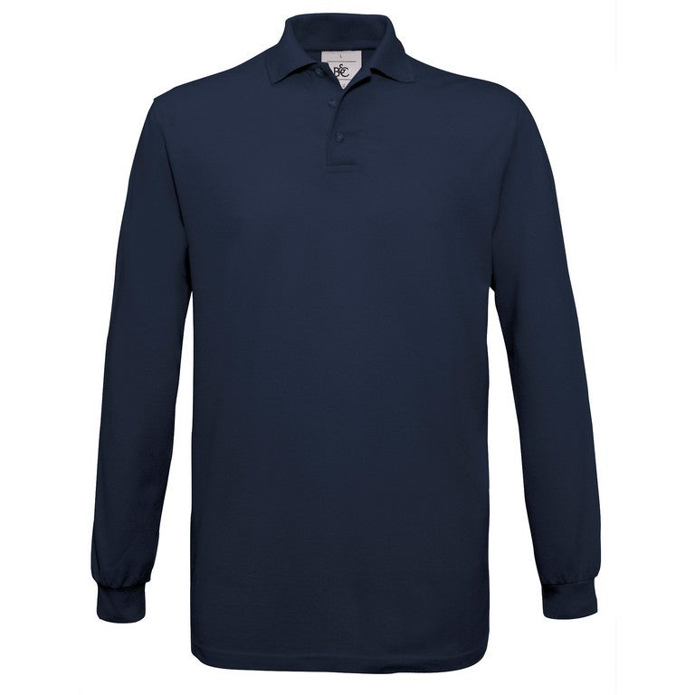 Men's Long Sleeve Cotton Polo Shirt (P301)