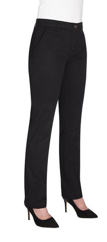 Ladies Houston Slim Leg Chino Trouser (TF2303) - Black