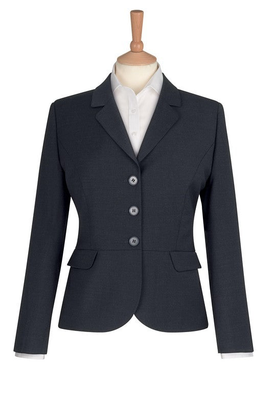 Susa 3 Button Jacket (JF140) - Mid Blue