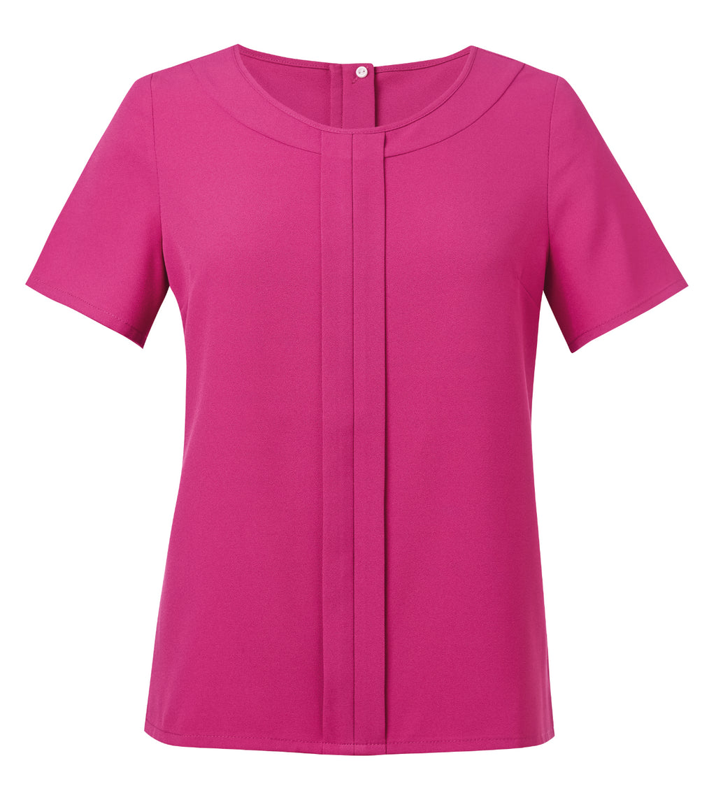 Verona Ladies Crepe Short Sleeve Blouse (B116)