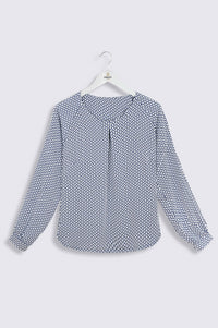 Catriona Long Sleeve Print Blouse (B246)