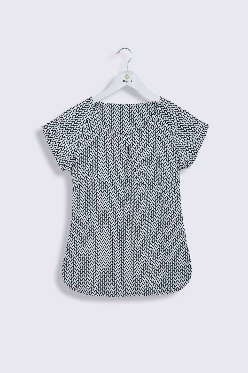 Catriona Short Sleeve Print Blouse (B247)
