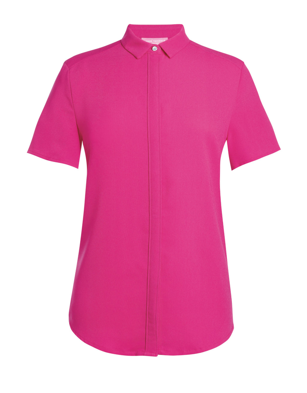 Ladies Fly Front Soft Short Sleeve Blouse (B256)