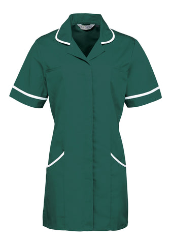 Healthcare Tunic (TU500 (PR604)) - Bottle Green/White