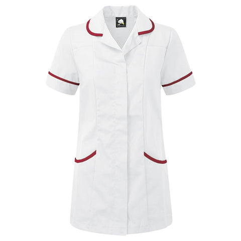 Healthcare Tunic (TU500 (PR604)) - White / Maroon