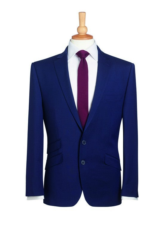Cassino 2 Button Jacket (JM147) - Navy Pinstripe