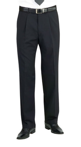 Imola Single Pleat Trouser (TM148) - Navy Pinstripe