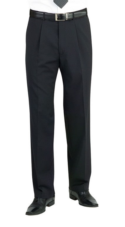 Imola Single Pleat Trouser (TM148) - Mid Blue
